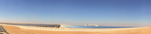 Abu Dhabi concentrating solar power photo by Tina Casey