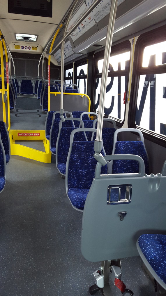 New Flyer electric bus inside