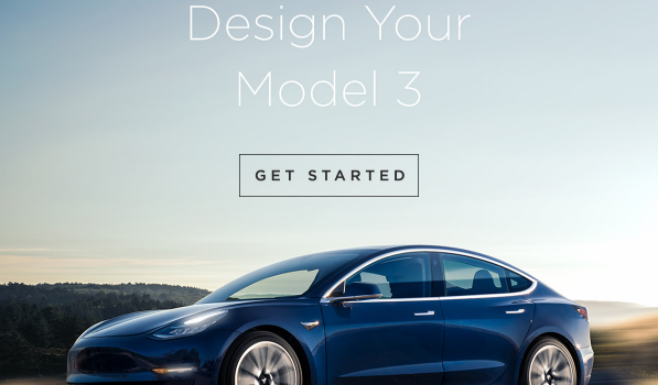 Design Your Tesla Model 3 Email